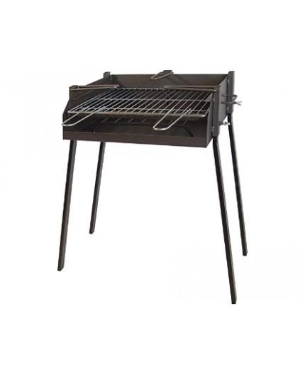 IMEX EL ZORRO 71584 Barbacoa Cuadrada con Soporte para Paella, 50 x 40 x 75 cm, Negro,
