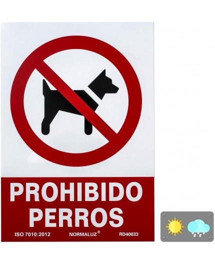 """SEÑAL """"PROHIBIDO PERROS """" - PVC"""