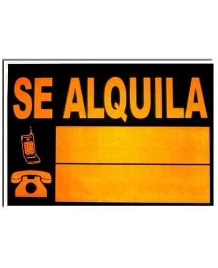 "CARTEL ""SE ALQUILA"" 70x50 CM"